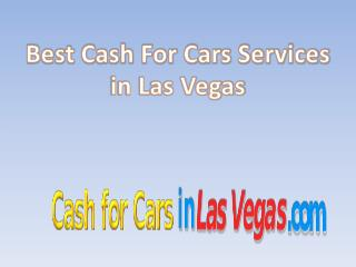 Cash for cars Las Vegas
