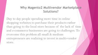 Why Magento 2 Multi vendor Marketplace Solutions?
