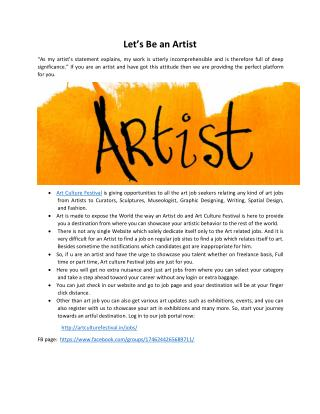 arts jobs in delhi