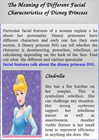 The Meaning of Different Facial Characteristics of Disney Princess