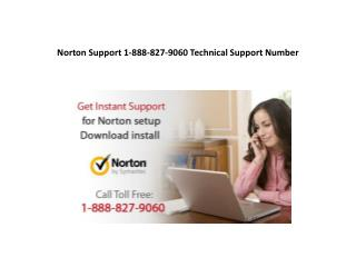 Norton Support 1-888-827-9060 Technical Support Number