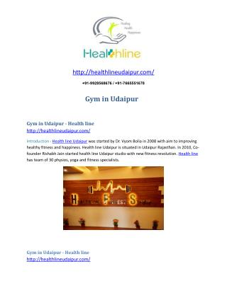 Gym in udaipur - Healthlineudaipur