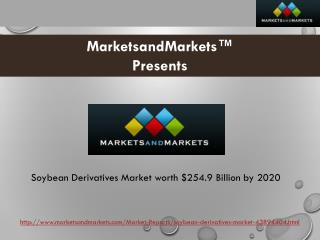 Soybean Derivatives Market worth $254.9 Billion by 2020