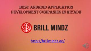Best Android apps development company in Riyadh