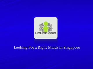 Looking for a Singapore Maid