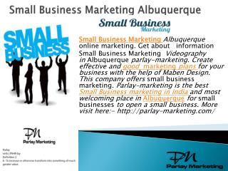 Small business marketing Albuquerque