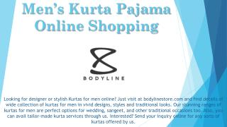 Men's Kurta Pajama Online Shopping