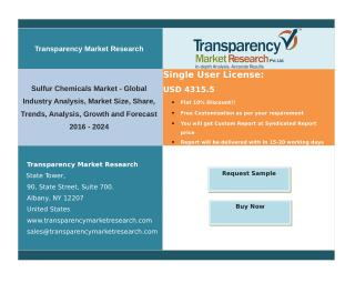 Sulfur Chemicals Market - Industry Analysis, Size, Share, Trends  2024 | TMR