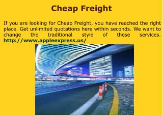Freight Quote