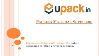 Packing Material Suppliers