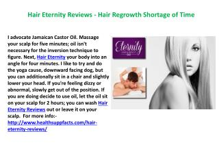Hair Eternity Reviews - Advanced hair Regrowth Treatment!