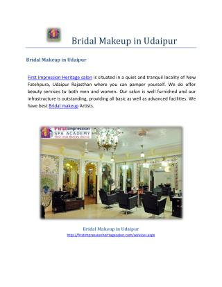 Bridal makeup in udaipur-beauty_treatment