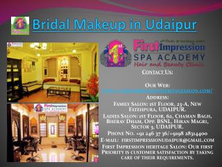 Bridal Makeup in Udaipu_Beauty_Treatment