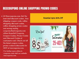 Reecoupons |online shopping promo codes