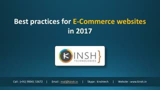 Best practices for E-Commerce websites in 2017