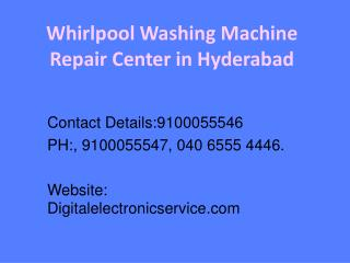 Whirlpool Washing Machine Repair Center in Hyderabad