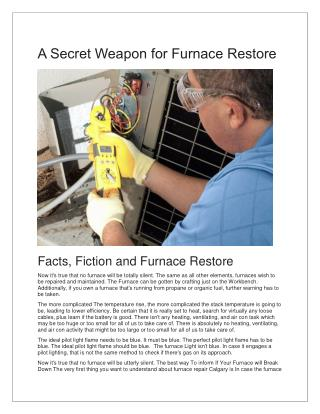 Furnace Repair Longmont