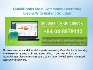 Quickbooks Most Commonly Occurring Errors With Instant Solution