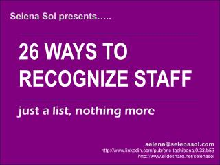 26 ways to recognize employees