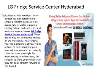 Lg Fridge Service Center Hyderabad