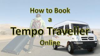 How to book a tempo traveller online in delhi