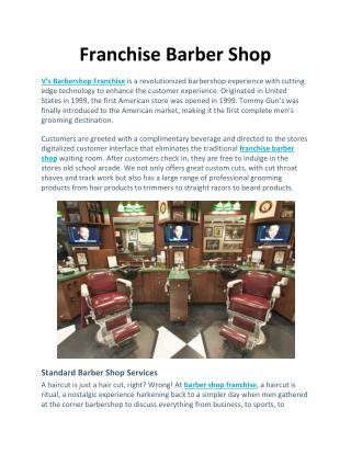 Franchise Barber Shop