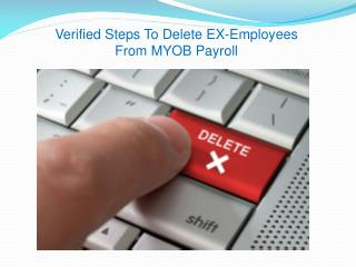Verified Steps To Delete EX-Employees From MYOB Payroll