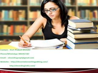 eBranding India in Jaipur is an Top quality PhD Thesis writing services