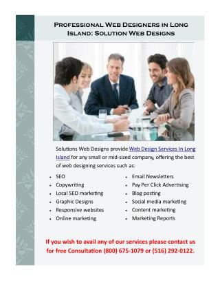 Professional Web Designers on Long Island: Solution Web Designs