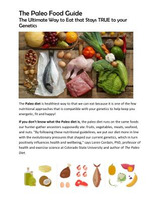 The paleo Food Guide