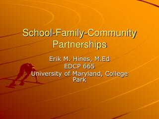 School-Family-Community Partnerships