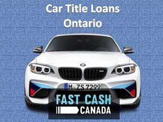 Credit Car Loans Ontario