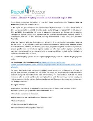 Global Container Weighing Systems Market Research Report 2017
