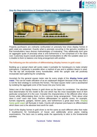 Lovely Design Display Homes at Indigo Homes