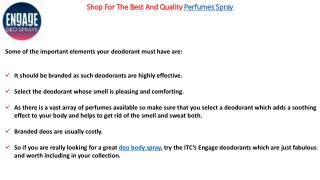Shop For The Best And Quality Perfumes Spray