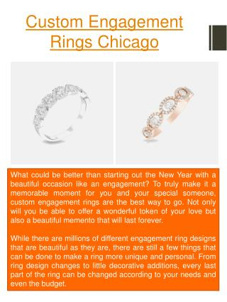 Custom Engagement Rings Chicago
