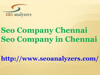 Seo Company Chennai | Seo Company in Chennai