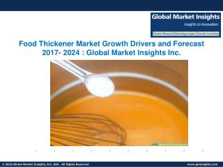 Food Thickener Market Analysis Report, Share, Growth, Price Trends and Forecast by 2024