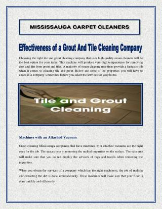 Effectiveness of a Grout And Tile Cleaning Company