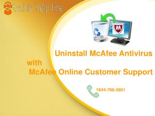 Uninstall McAfee with McAfee Online Customer Support
