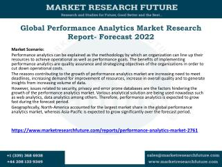 Global Performance Analytics Market Research Report- Forecast 2022