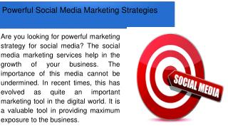Powerful Social Media Marketing Strategies