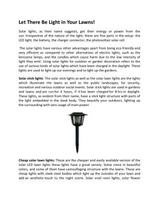 Affordable Solar Stick Lights for Garden