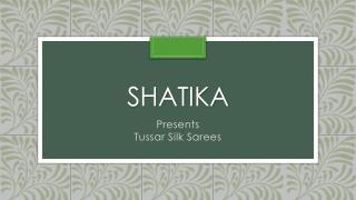 Online Shopping for Tussar Silk Sarees
