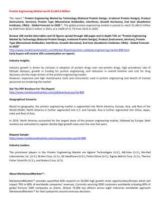 Protein Engineering Market.pdf