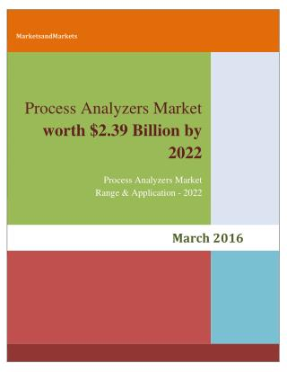 Process Analyzers Market (Liquid) worth 2.39 Billion USD by 2022