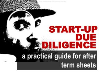 Due diligence for startups