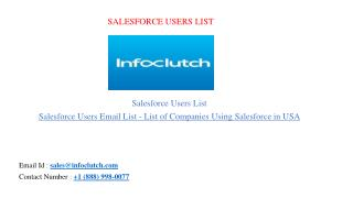 Salesforce Users List - List of Companies Using Salesforce in USA