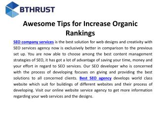Awesome tips for increase organic rankings