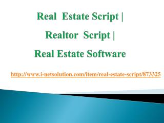Real Estate Software | Real Estate Script | Realtor Script